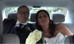 karen and andrew best glasgow wedding car hire