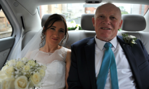 rosanne and richard glasgow cheap wedding car hire
